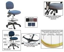 BENCHPRO™ ESD FABRIC INDUSTRIAL CHAIRS